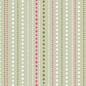Spring Tea Garden Green Dots