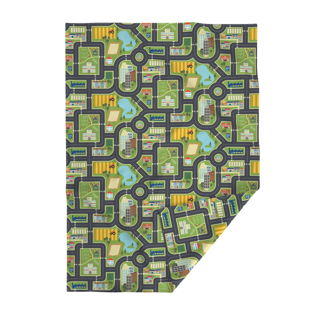 Lakenvelder Throw Blanket featuring Custom FQ Town & Country Play Mat by seesawboomerang
