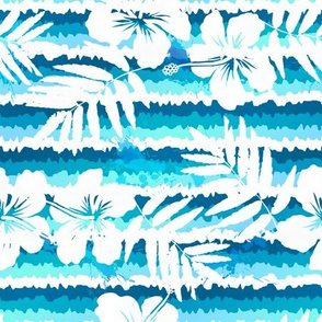 Blue flowers waves