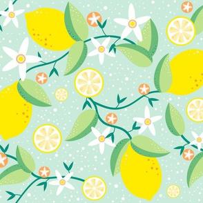 Lemon tree in green