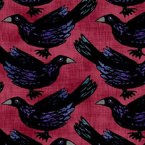 Murder of Crows on Red