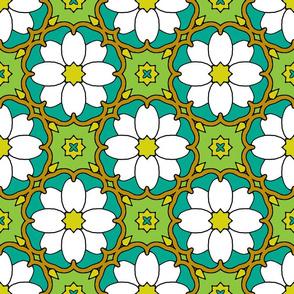 Flowers on the Vine - White