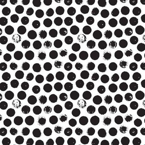 Black and white circles abstract dots organic trendy gender neutral geometric print Small