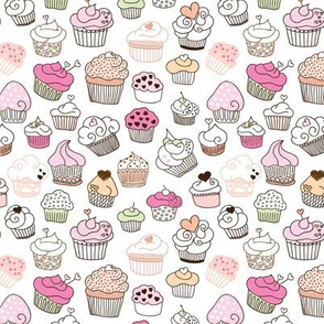 Sweet cupcake girls cake and candy birthday  summer spring theme Small