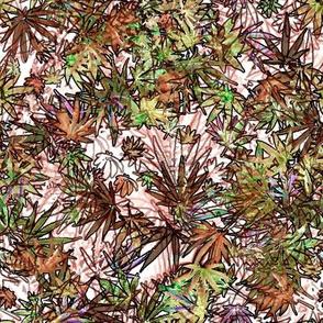 Cannabis Leaf Scribble