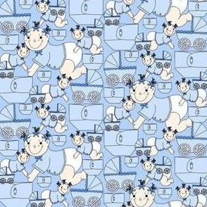 Baby Boys Crawling Fabric #1