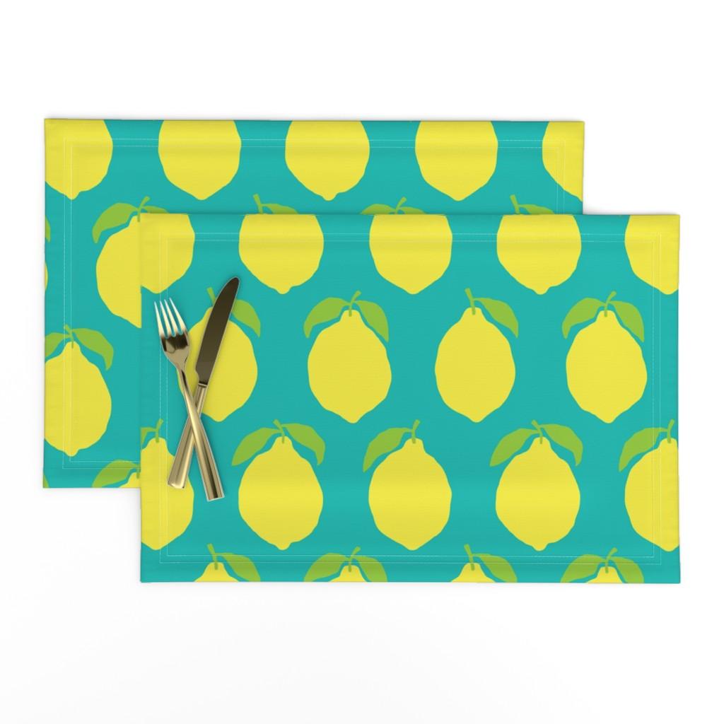 Lamona Cloth Placemats featuring Life's A Lemon by nick_neuman