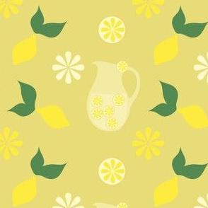 Retro yellow lemonade party