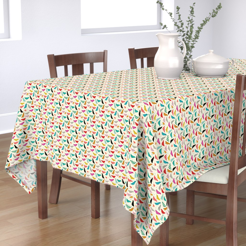 Bantam Rectangular Tablecloth featuring A Nod to the House Bird - 25% Scale by katerhees