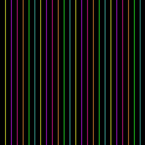 Neon Pinstripes