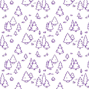 A Lot of Trees - Purples (outlines)
