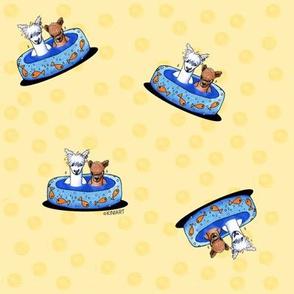 KiniArt Llama Pool Party