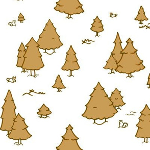 A Lot of Trees - Browns (white background)
