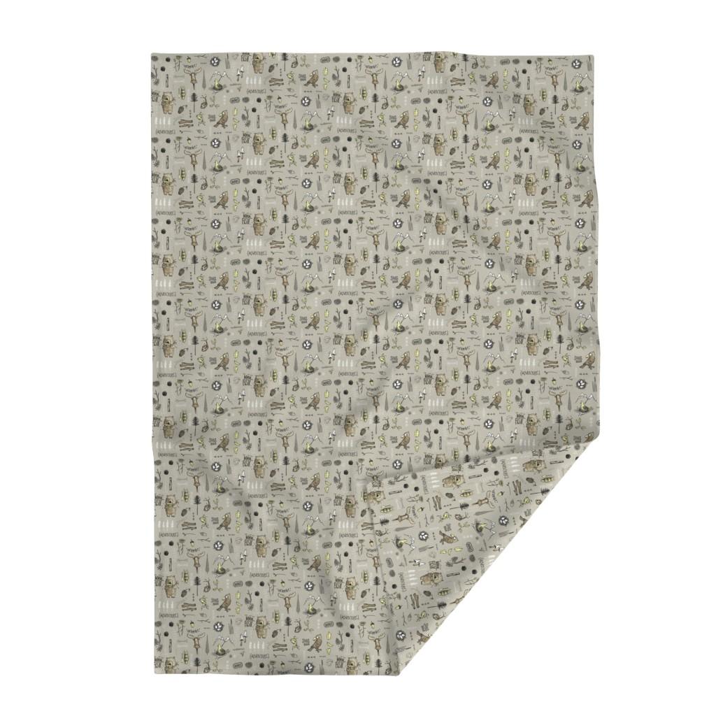 Lakenvelder Throw Blanket featuring Spring bear - brown by mulberry_tree
