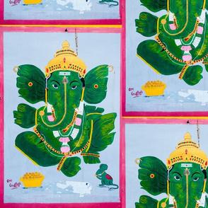 Pan Leaf Ganesh Spoonflower