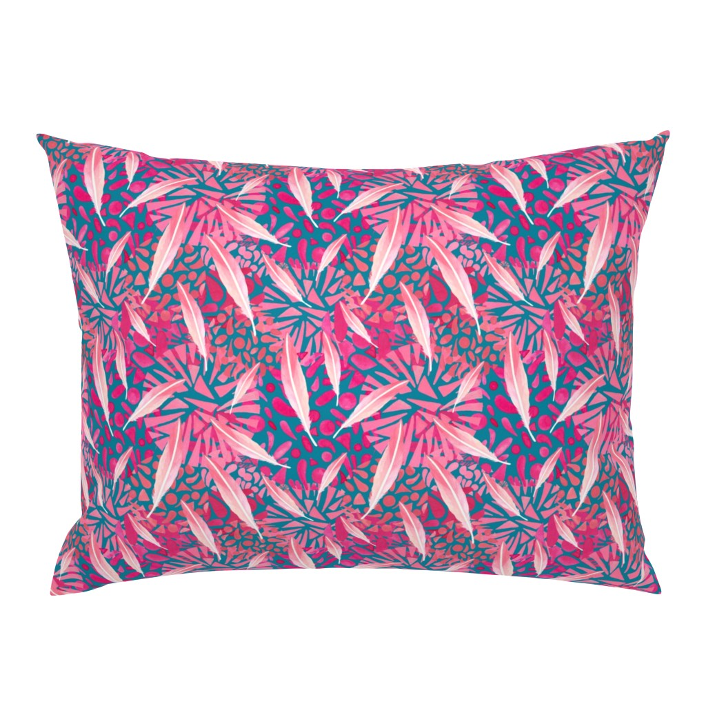 Campine Pillow Sham featuring Flamingo Feather Flock by christinemay