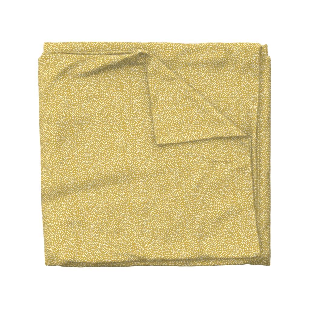 Wyandotte Duvet Cover featuring Random Polkadot - Peruvian Gold by papercanoefabricshop