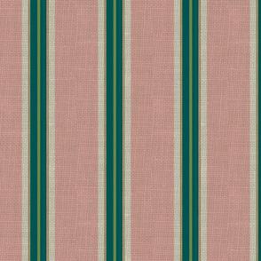 paradise blush / burlap stripe