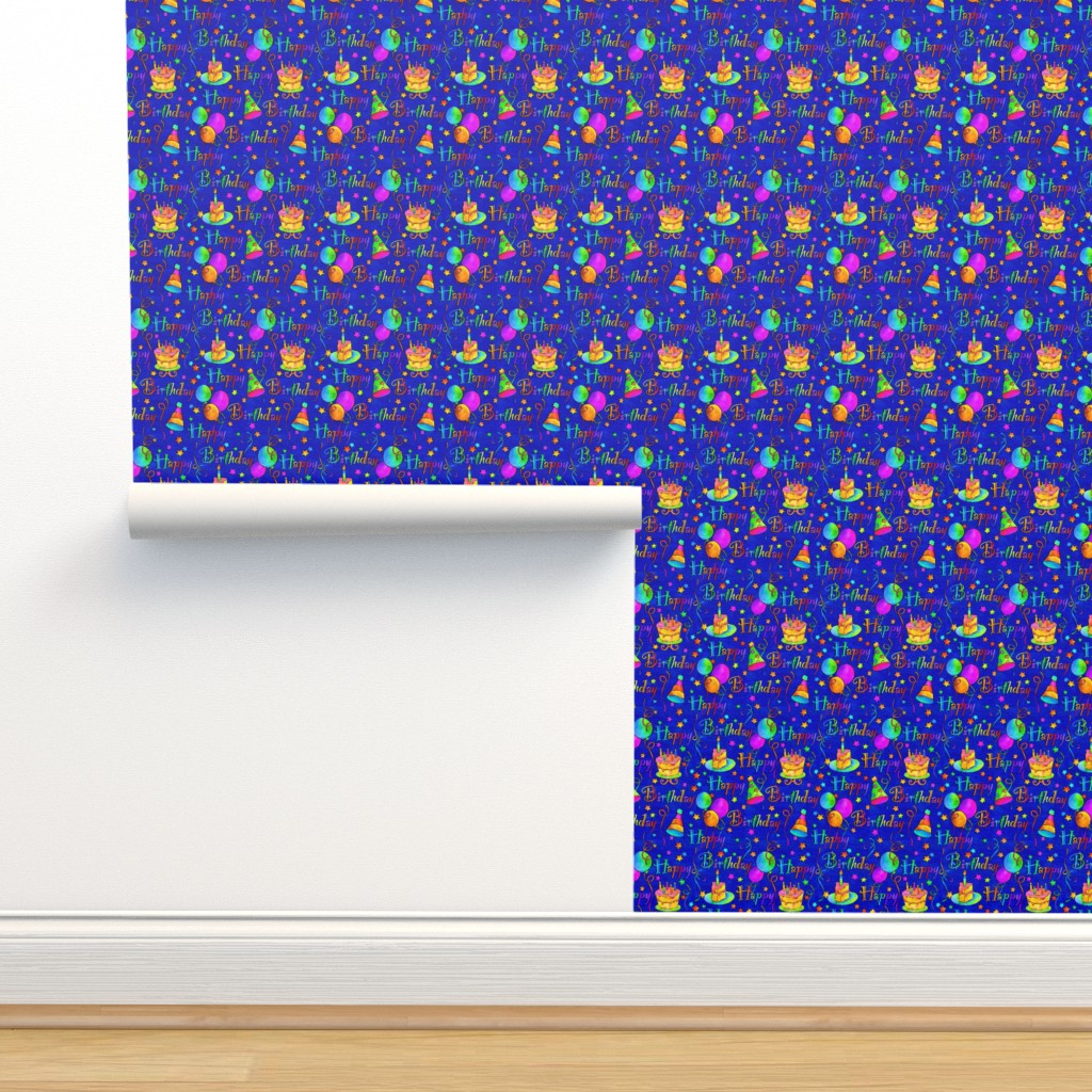 Isobar Durable Wallpaper featuring Happy Birthday Blue! by ileneavery