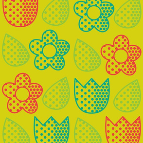 Pop Bot Floral Yellow