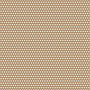 Micro Spot - Mocha on White