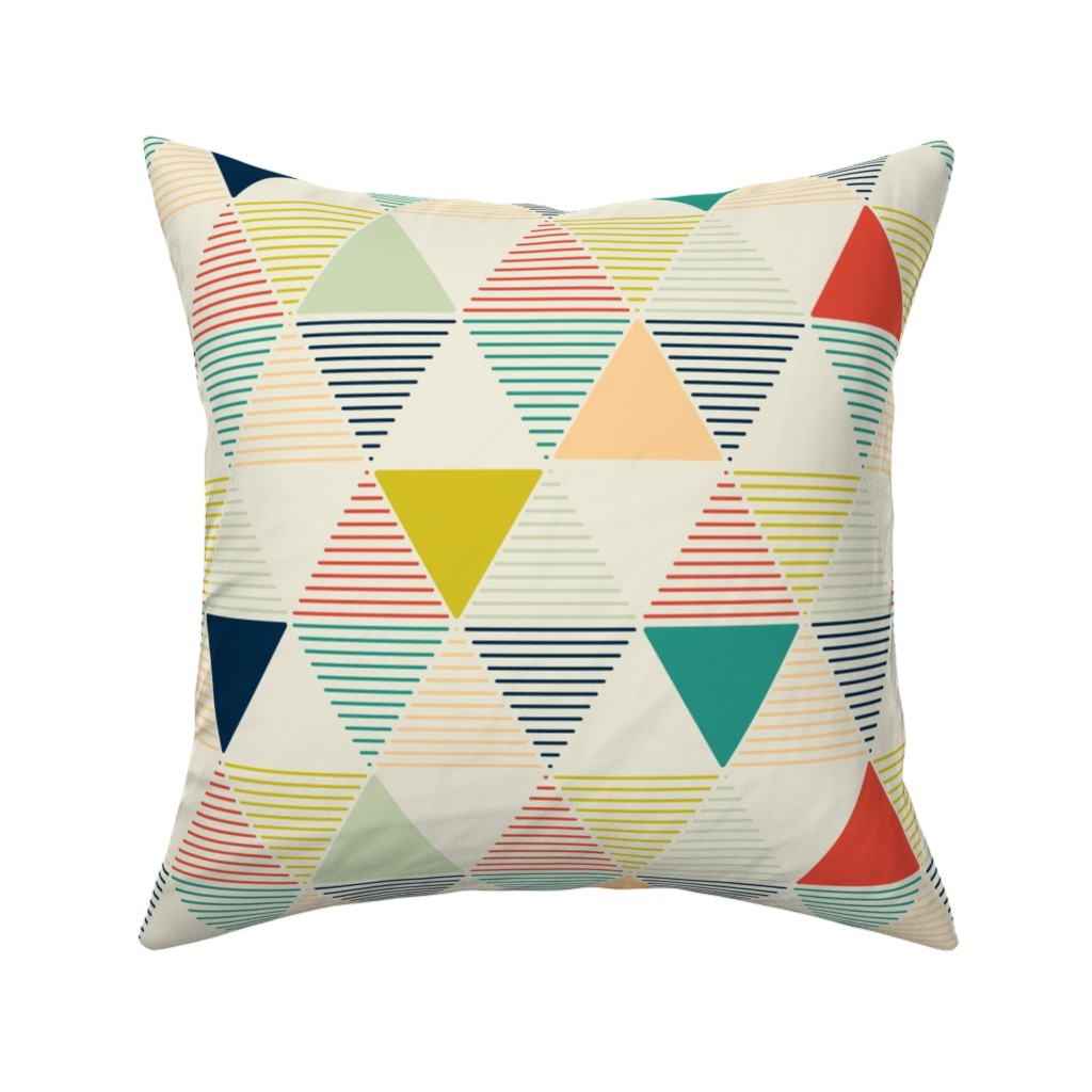 Catalan Throw Pillow featuring Modern Geometric by lemonni