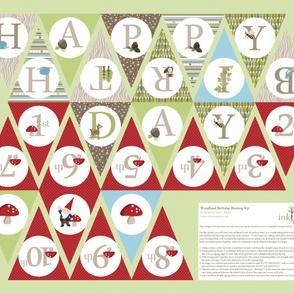 Birthday Bunting - Red