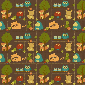 Smaller Cuddly Woodland Animal Bricks