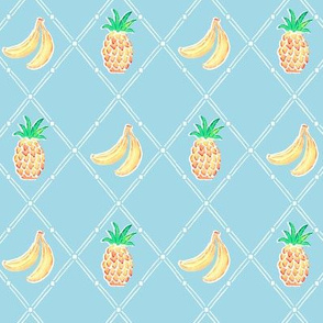 Pinapple Banana Diamonds - Aqua
