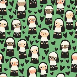Nuns on mint