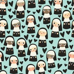 Nuns on Blue