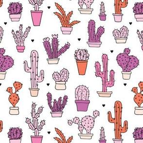 Cactus cacti summer garden botanical pink girls illustration trend pattern
