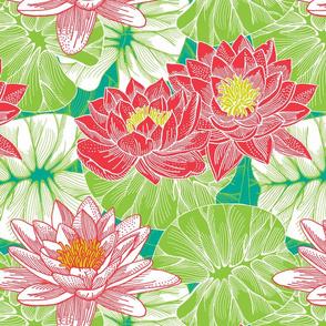 funky lilies - botanical