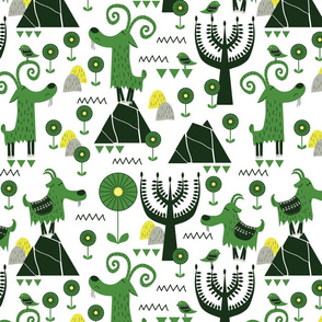 G is for Green Goat