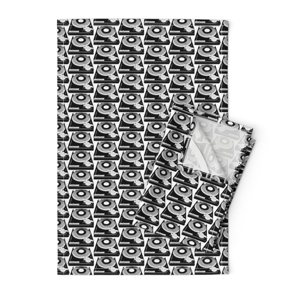 Orpington Tea Towels featuring Black&White turntables by susiprint