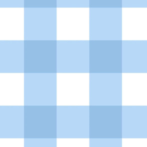 Large Buffalo Check in light blue