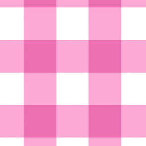 Large Buffalo Check in bright pink