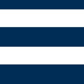 Preppy Stripes - deep navy