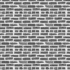 Hit A Brick Wall ~ Grey ~ Dollhouse Scale