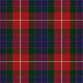 "Fraser red tartan, 6"" modern colors"