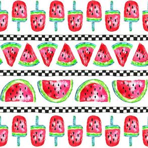 Summer Watermelon Stripe