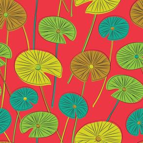 lotus leaves (red)