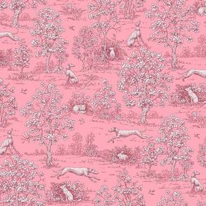 Dark Pink Reverse Greyhound Toile ©2010 by Jane Walker