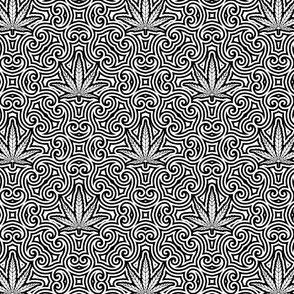 Sweet Leaf Black and White 2-Small