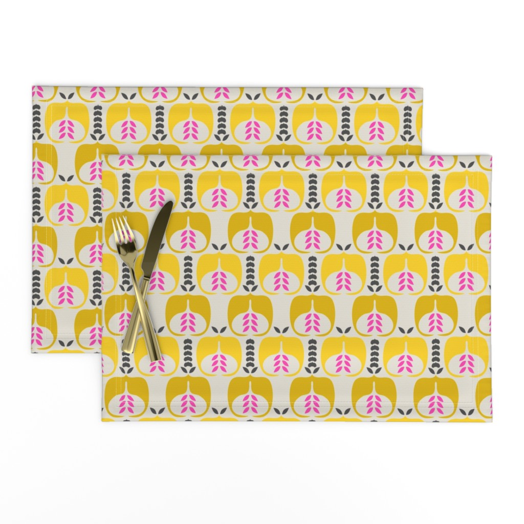 Lamona Cloth Placemats featuring apple_seed by holli_zollinger