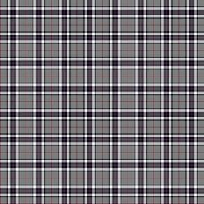 """Thomson / Thompson mini tartan, 1"""" grey"""