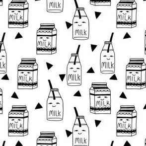 Milk  // black and white milk jug cute kids fabric best black and white kids design