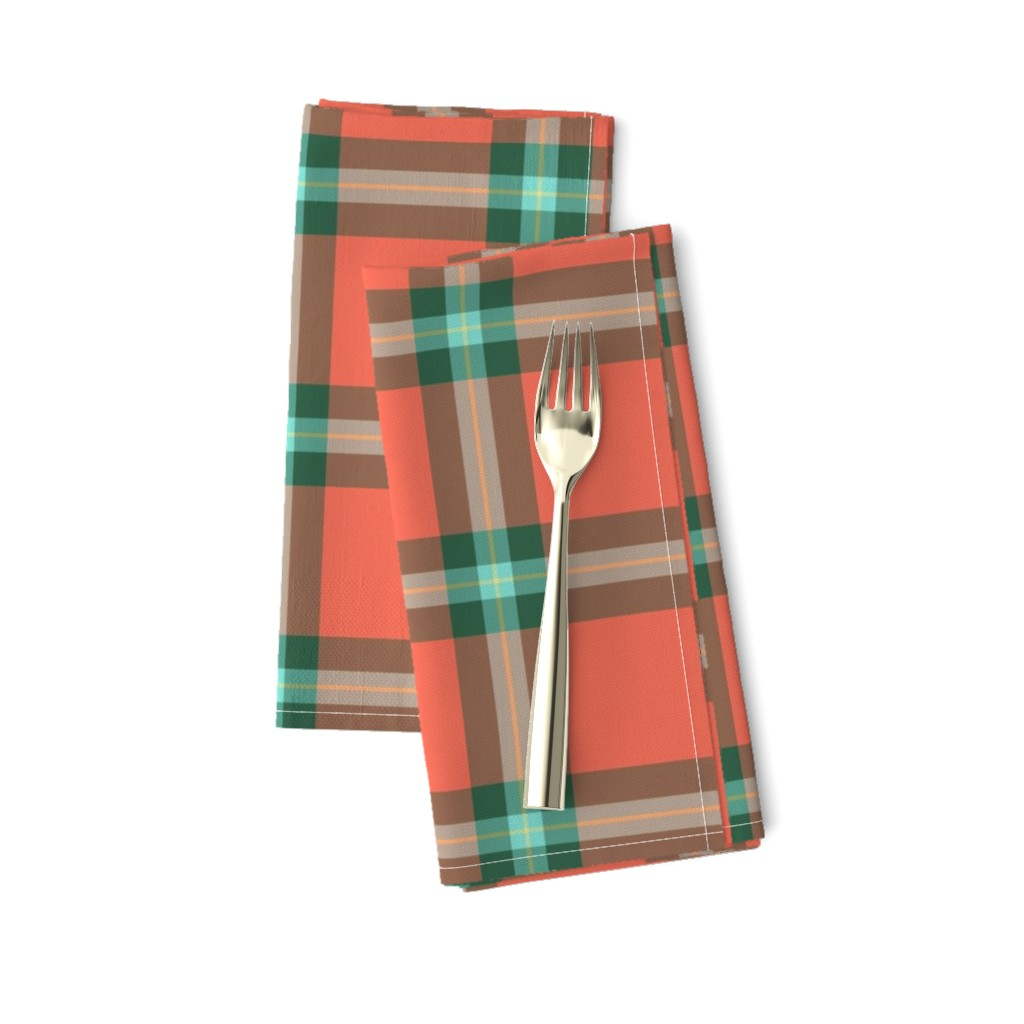 "Amarela Dinner Napkins featuring MacLaine weathered tartan, 4"" by weavingmajor"