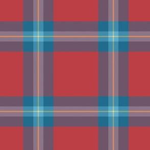 """MacLaine tartan, 4"""", blue variation"""
