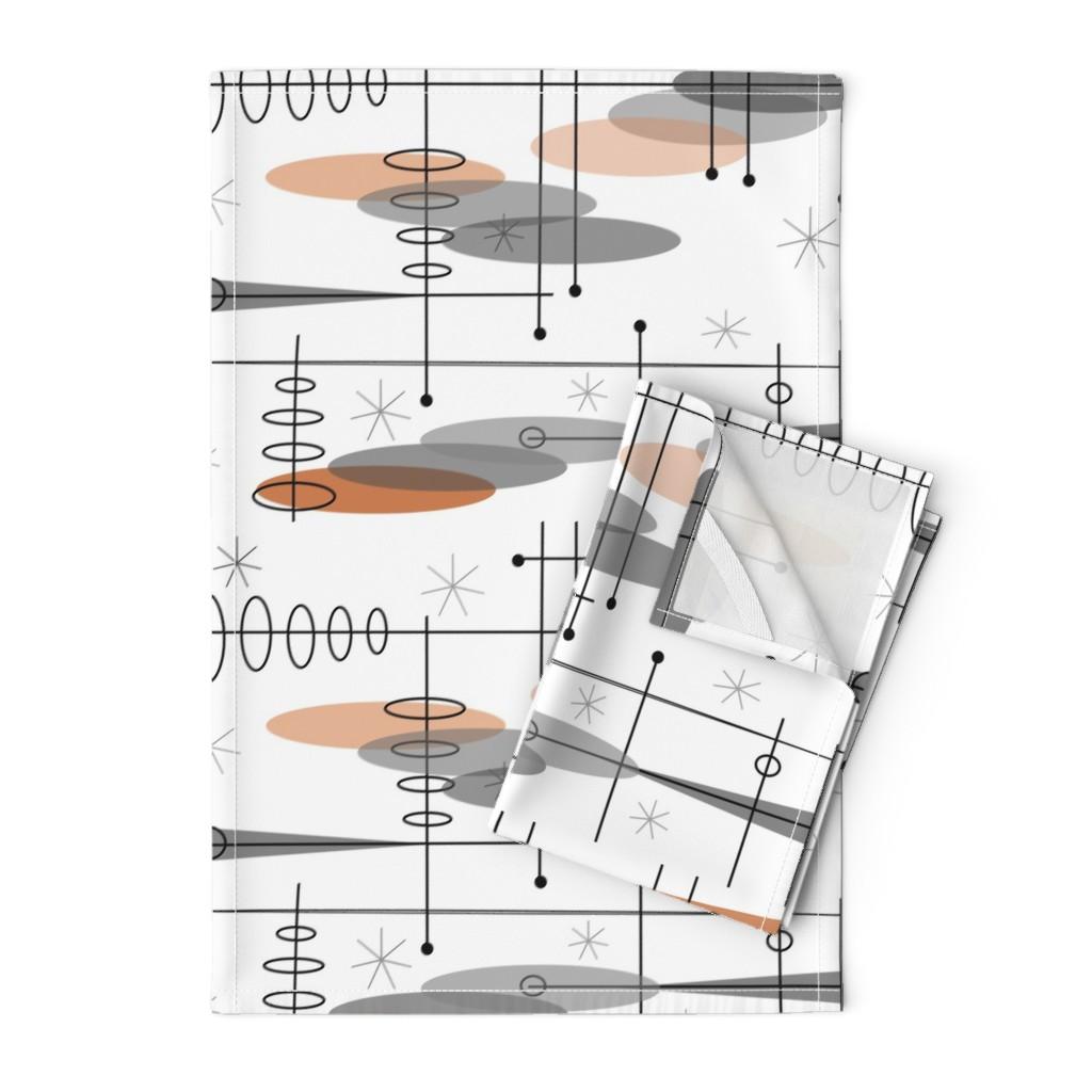 Orpington Tea Towels featuring Mid-Century Modern Space Age by hot4tees_bg@yahoo_com